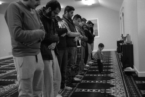 Little Boy Praying with the Men The Islamic Society of Southeastern Idaho, Pocatello, ID 2015